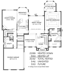 traditional style house plan 4 beds 3 50 baths 3232 sq ft plan