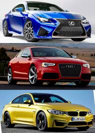 lexus vs mercedes sedan 2015 supercoupe design shootout lexus rc f vs bmw m4 vs audi rs5