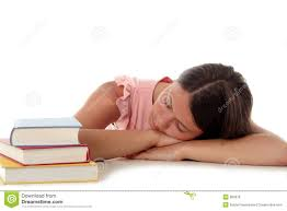 woman sleeping with head on desk royalty free stock photos image
