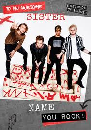 5sos birthday card time to rock out funky pigeon