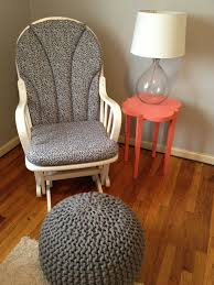 furniture grey rocking chair ideas by grey knit pouf