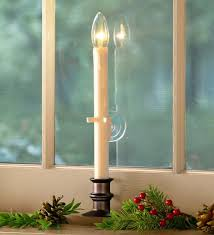 holiday window candle lights suction cup window candle holiday lighting plow hearth