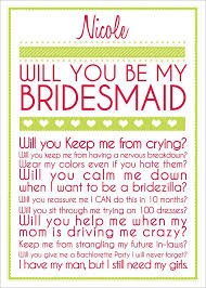 bridesmaid invite laughter laughter