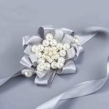 wrist corsage prices bridesmaid wrist corsage wedding diy flowers pearls silk