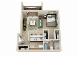 Best  Studio Apartment Plan Ideas On Pinterest Studio - One bedroom apartment designs example