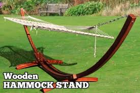 quality cypress wooden curved roman arch hammock stand w double