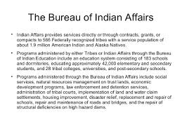 United States Department Of Interior Bureau Of Indian Affairs Frank Sanpietro Presents The U S Department Of The Interior