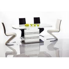 White Glass Extending Dining Table Modus Extending White Gloss Dining Table 19540 Furniture In Inside