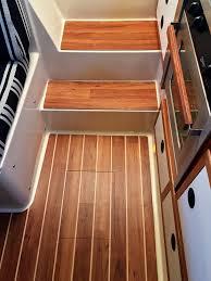 Teak And Holly Laminate Flooring Harbor Island Interior Floors U2013 Apf Marine Group