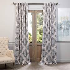 Martha Stewart Curtains Home Depot Solaris Semi Opaque Black Media Back Tab Curtain 1622299 The