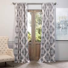 Martha Stewart Curtains Home Depot Solaris Semi Opaque Black Media Back Tab Curtain 1622299 The