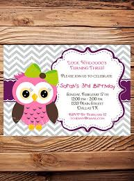 owl birthday invitations owl birthday invitations with enchanting