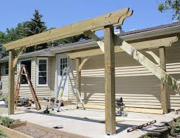 How To Build A Detached Patio Cover How To Build A Pergola In Two Days On A Budget Detailed How To