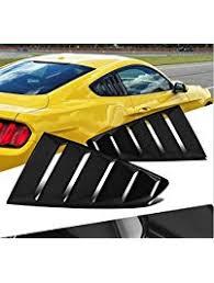 mustang rear louvers amazon com window louvers exterior accessories automotive