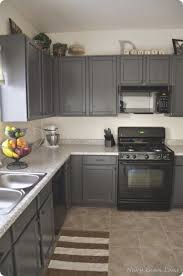 What Color Walls With Gray Cabinets Grey Kitchen Cabinets With Black Appliances Outofhome
