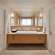cozy bathroom ideas laminate modern floating vanities with wall sconces