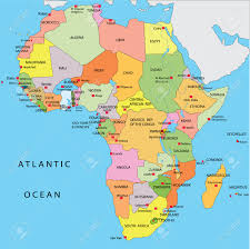 Algeria On Map Africa Africa Map With Equator
