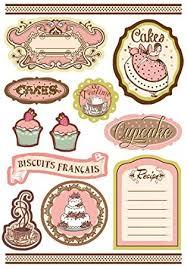 scrapbooking cuisine paper moon etiquettes adhésives label a5 pour scrapbooking