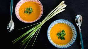 cuisiner citronnelle soupe de courge butternut d alsace coco et citronnelle recette