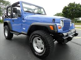 blue jeep wrangler highland motors chicago schaumburg il used cars details