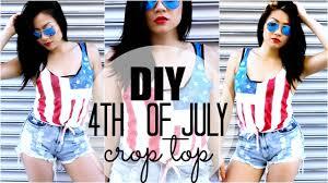 Flag Crop Top Diy Fourth Of July American Flag Crop Top Pinterest U0026