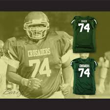 The Blind Aide The Blind Side Michael Oher 74 Crusaders High Football Jersey