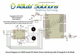 l293d driver interfacing with avr atmega16 microcontroller ablab