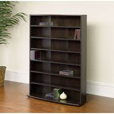 dvd storage tower contemporary 6 shelf bookcase multimedia storage rack tower in