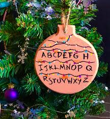 stranger things christmas ornament alphabet lights christmas