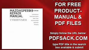 mazdaspeed3 repair manual video dailymotion