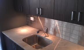 kitchen backsplash stainless steel tiles stainless steel backsplash s handyman service