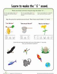 letter sounds e worksheet education com