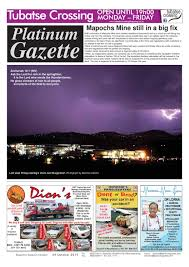 platinum gazette 09 october 2015 by platinum gazette issuu
