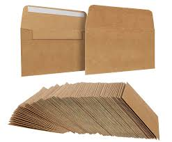 amazon com 100 pack size a7 brown kraft paper envelopes self amazon com 100 pack size a7 brown kraft paper envelopes self sealing adhesive stationery for general office home use tan set of 100 5 25 x7 25
