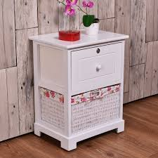 end table with locking drawer costway white end side accent table night stand bedroom w 1 locked