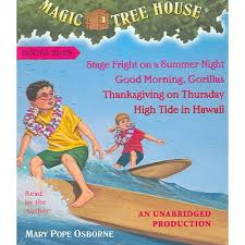 magic tree house collection of 7 audio books 25 28 stage fright