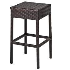 furniture bar table set with backless barstools 7 piece outdoor