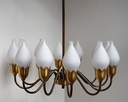 1950s Chandelier 1950s Lighting Etsy