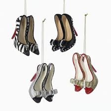 resin high heel shoes ornaments set of 4 0 build my christmasbuild