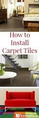how to install carpet tiles basements diy network and house