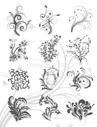 floral vector graphic ornament set stock vector image 43640353