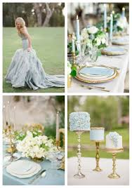 wedding ideas delicate dusty blue and gold wedding ideas happywedd