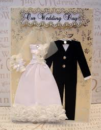 wedding wishes dresses diamond personalized wedding dress card c5 size handmade