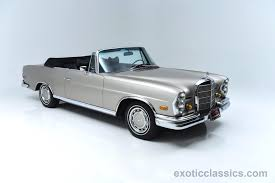 mercedes classic convertible 1969 mercedes benz 280se exotic and classic car dealership