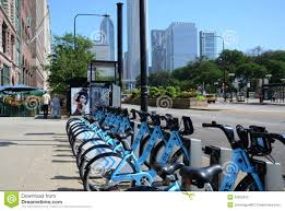 divvy map chicago divvy bike rental station on michigan avenue chicago editorial