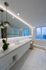 Cottage Style Bathroom Mirrors Place Soft Strip Along Bathroom Mirrors To Illuminate The Space