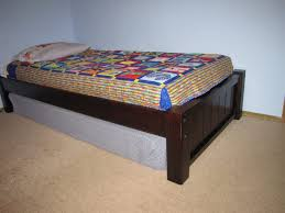 How To Make Wood Platform Bed Frame by Bed Frames Twin Bed Frame With Storage Easy Diy Twin Platform