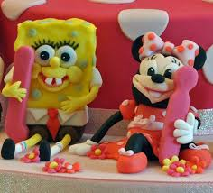 spongebob cake toppers spongebob minnie mouse cake toppers sylvania cakes exeter