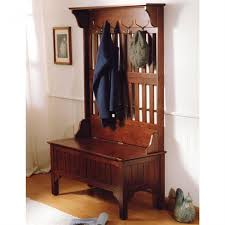 artistic hallway coat rack bench with storage and antique brass