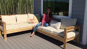 Plans For Building Garden Furniture by How To Build A 2x4 Outdoor Sectional Tutorial Youtube